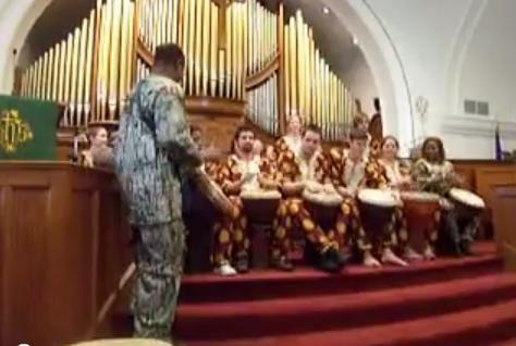 Африканские барабаны и орган